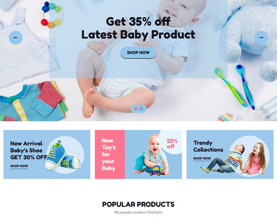 shopify themes for childrens clothing stores feature