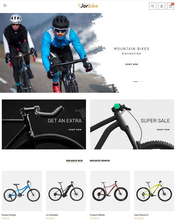 shopify themes for bike and cycling stores