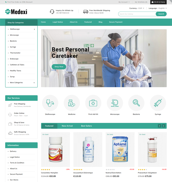 medical prestashop themes