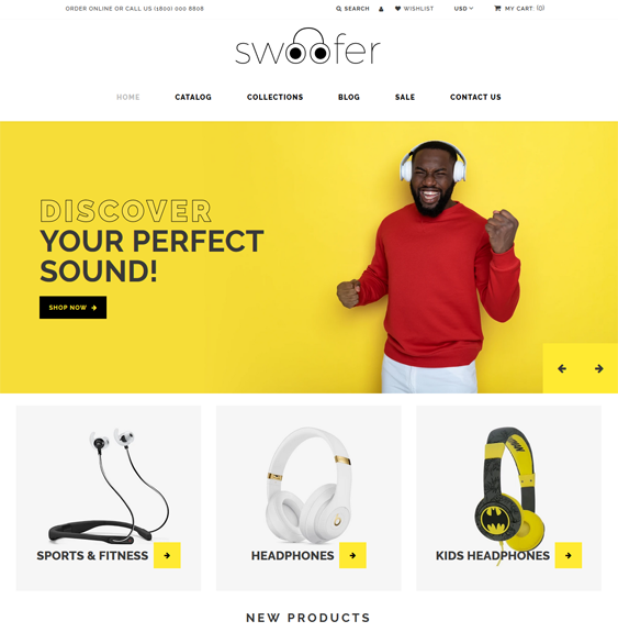 headphone shopify themes feature