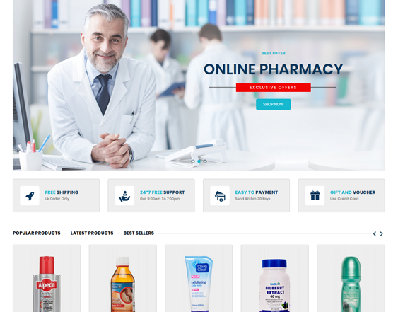 medical prestashop themes feature
