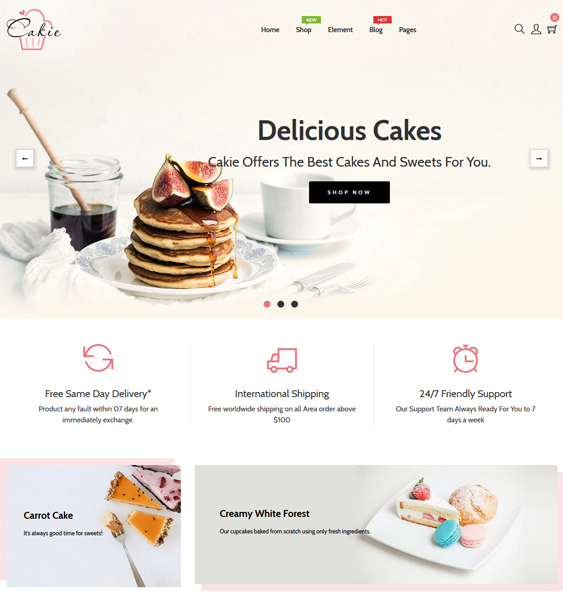 Shopify Themes For Cake Shops