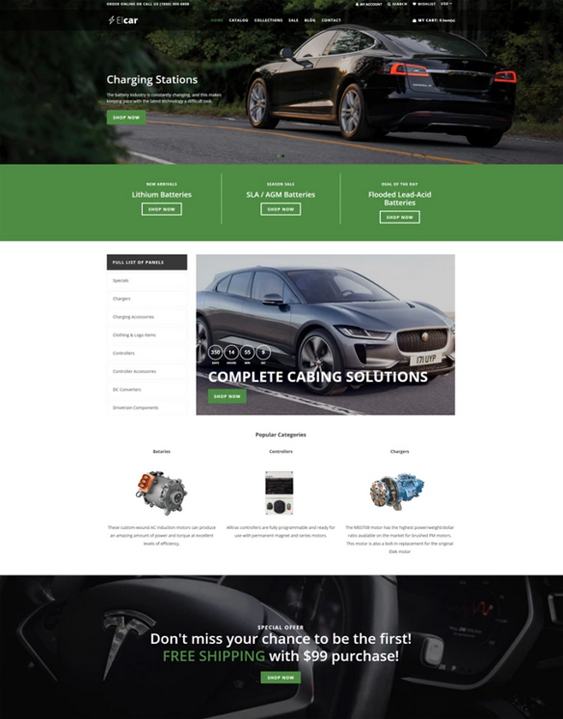 Shopify Themes For Car, Vehicle, And Automotive Stores feature