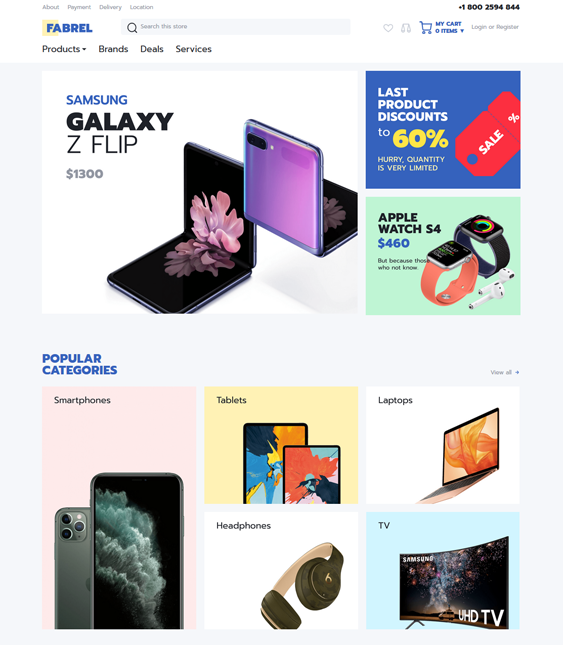 woocommerce themes for electronics stores