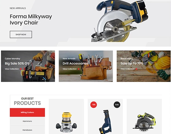 Shopify Themes For Online Tool Stores feature