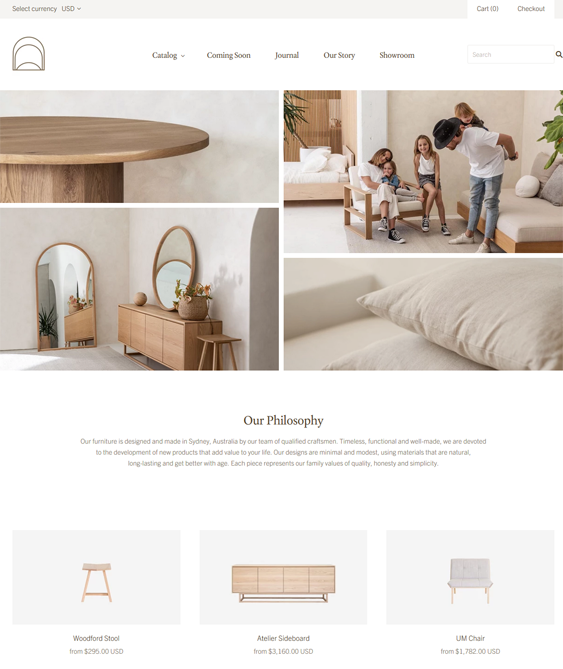 shopify themes for online furniture stores feature