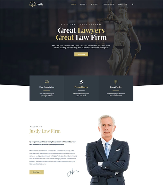 WordPress Themes For Lawyers, Attorneys, And Law Firms feature