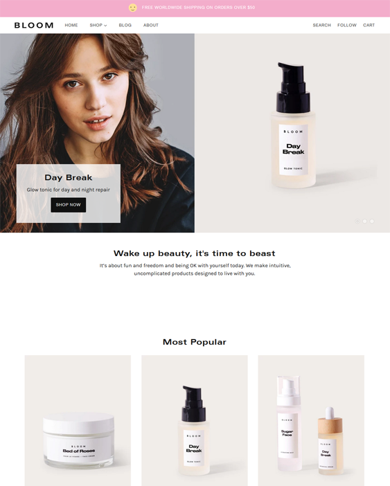 Shopify Themes For Selling Beauty Products, Skincare, Makeup, And Toiletries