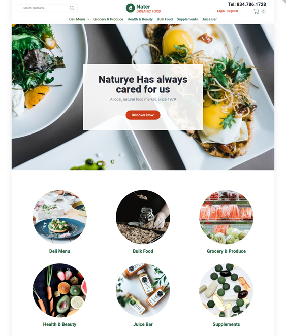 woocommerce themes for food and grocery stores