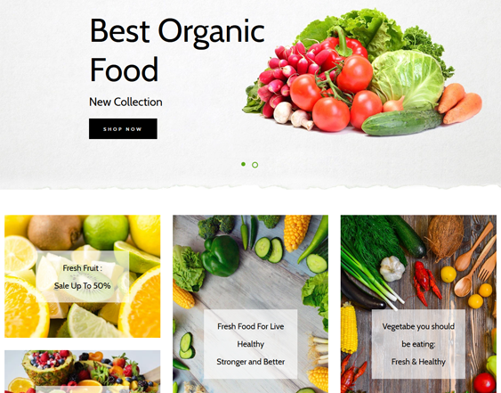 Shopify Themes For Selling Organic Fruit And Vegetables feature