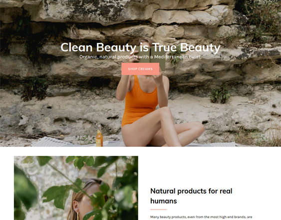Shopify Themes For Clean Beauty Stores feature