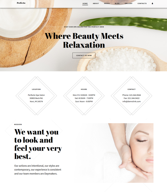 joomla templates for beauty salons and spas