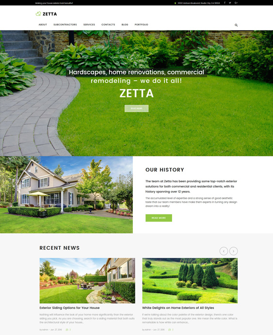 WordPress Themes For Landscapers, Lawn Care Companies, And Gardeners feature
