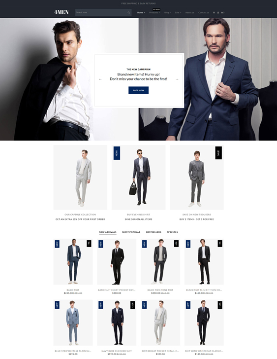 Menswear Shopify Themes For Men's Fashion And Clothing Stores