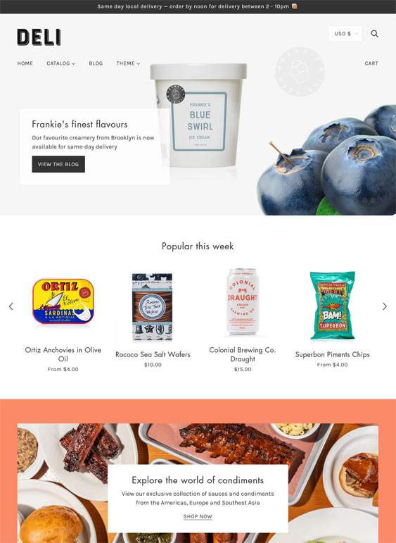 Shopify Themes For Selling Food Online