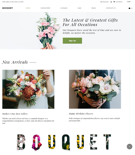 Shopify Themes For Florists And Plant Stores feature