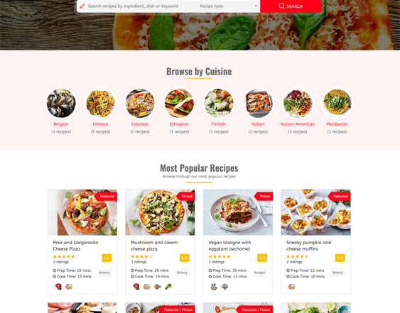 wordpress themes food blogs recipe websites feature