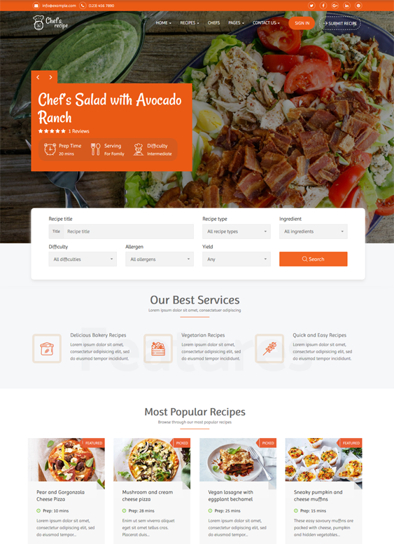 WordPress Themes For Food Blogs And Recipe Websites