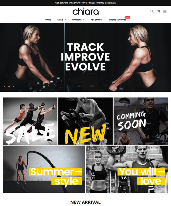 BigCommerce Themes For Sports And Fitness Stores feature