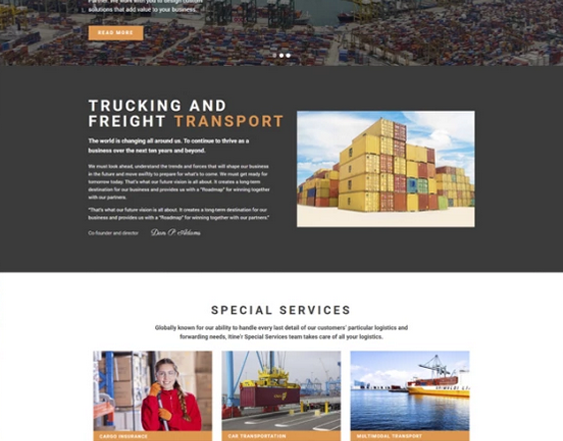 Transportation And Logistics WordPress Themes feature