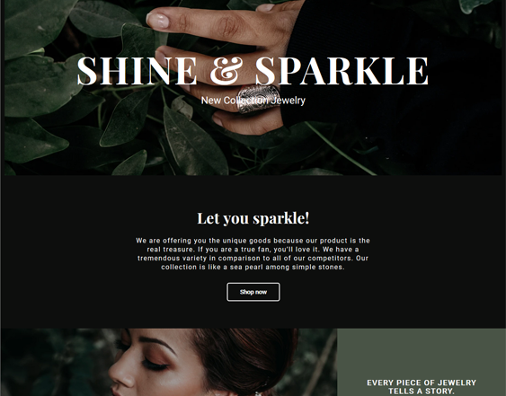 Shopify Themes For Online Jewelry Stores feature
