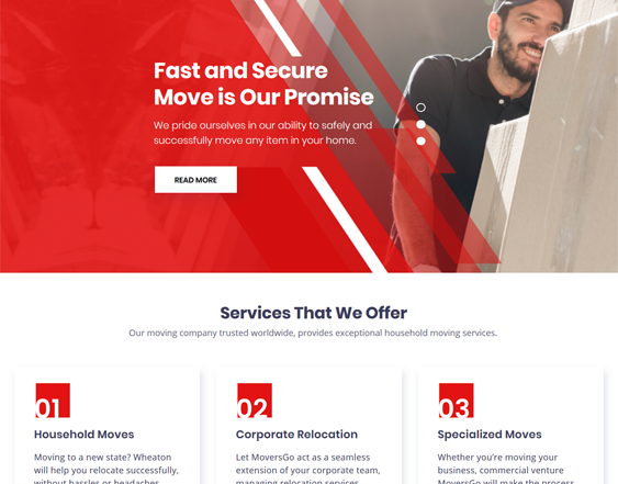WordPress Themes For Moving Companies And Movers feature
