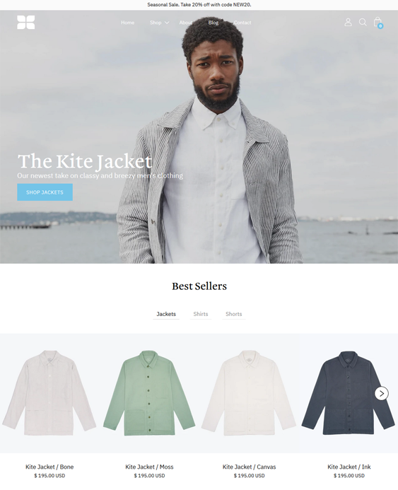 Menswear Shopify Themes For Men's Fashion And Clothing Stores feature