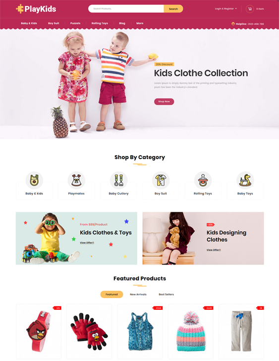 PrestaShop Themes For Selling Clothing And Toys For Kids, Children, And Babies feature