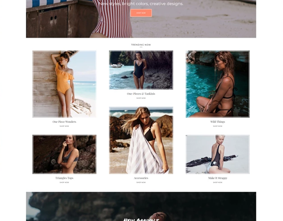 Shopify Themes For Selling Bathing Suits, Bikinis, And Swimwear feature