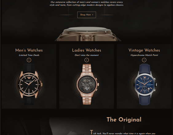 Shopify Themes For Online Watch Stores feature