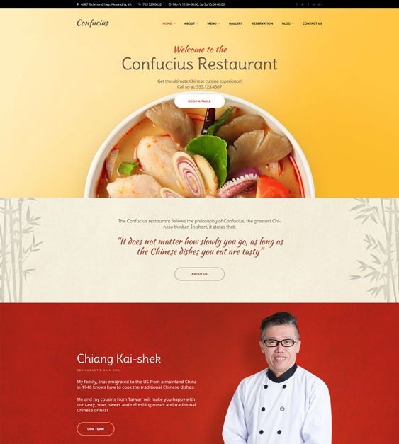 WordPress Themes For Asian Restaurants