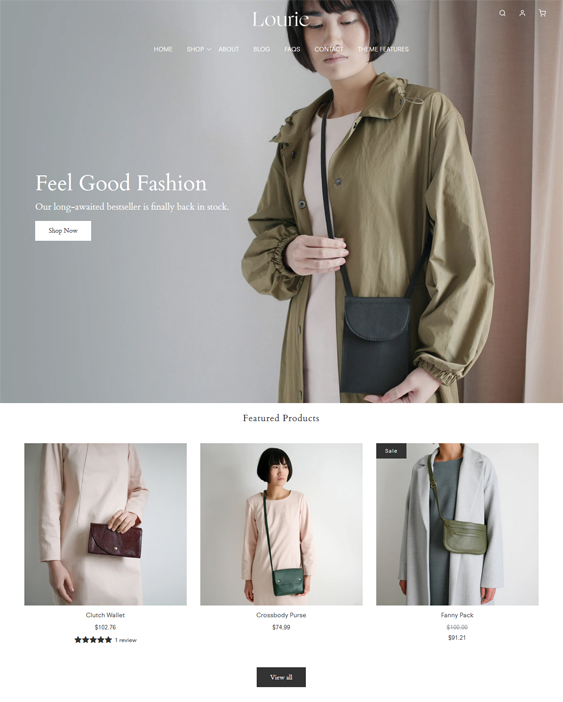 Shopify Themes For Selling Purses, Wallets, And Handbags