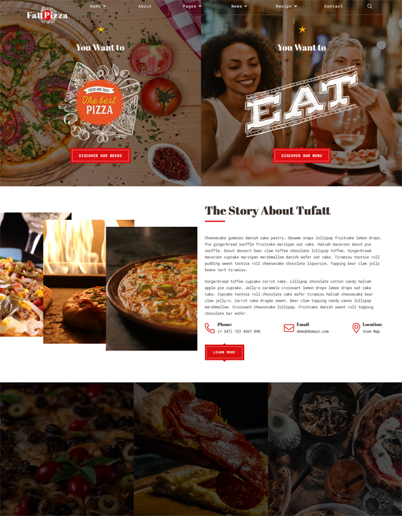 WordPress Themes For Restaurants feature