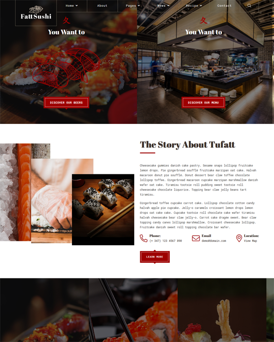 WordPress Themes For Asian Restaurants feature