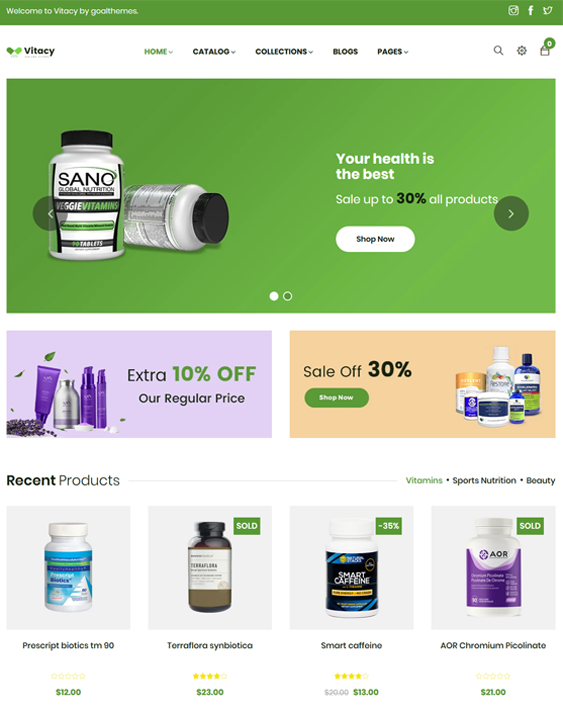 Shopify Themes For Drug Stores And Online Pharmacies