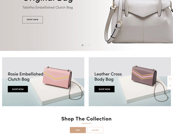 Shopify Themes For Selling Purses, Wallets, And Handbags feature
