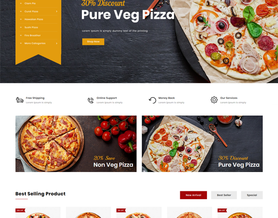 restaurant opencart themes feature