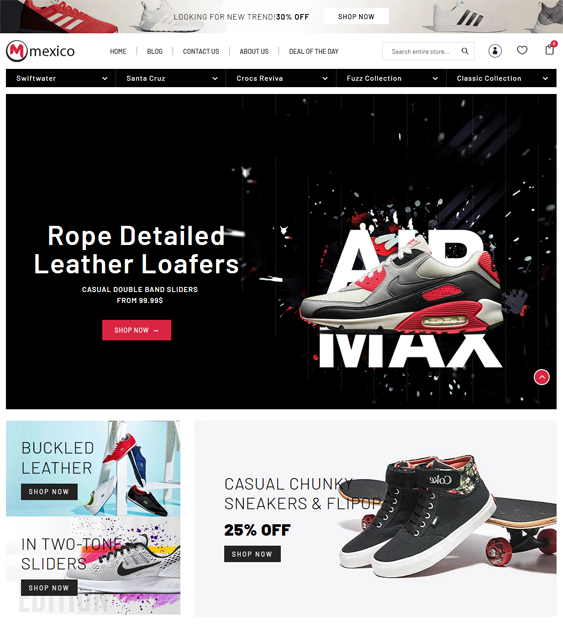 Shopify Themes For Selling Shoes And Footwear