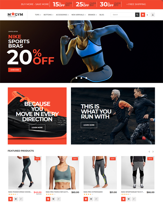 Magento Themes For Sports And Fitness Stores feature