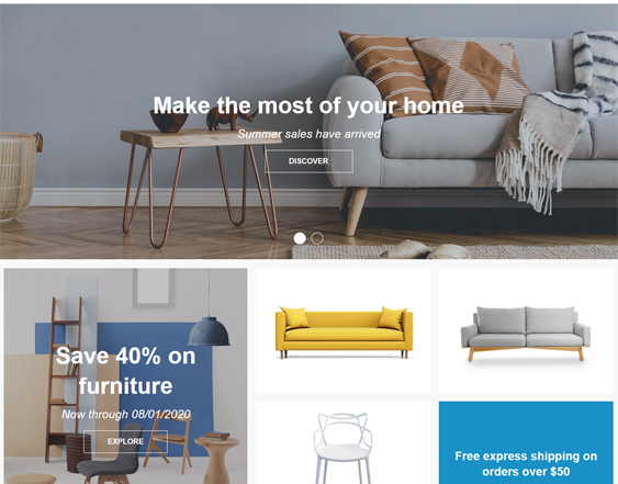 Shopify Themes For Furniture Stores feature
