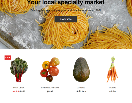 Shopify Themes For Grocery Stores feature