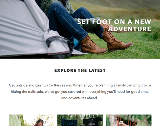 Shopify Themes For Outdoor Goods And Hiking And Camping Equipment feature