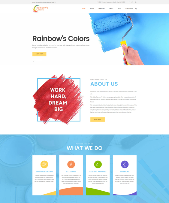 WordPress Themes For House Painters And Painting Companies