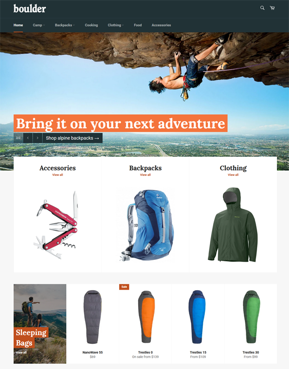 Shopify Themes For Backpack Stores