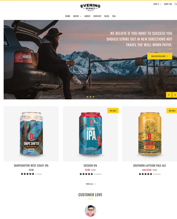 Shopify Themes For Selling Drinks feature