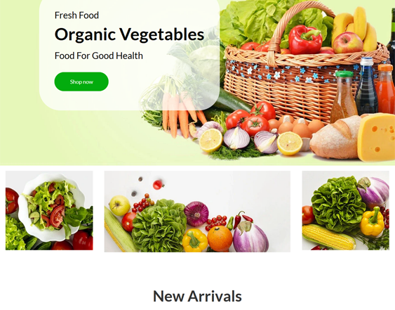 Shopify Themes For Selling Food feature