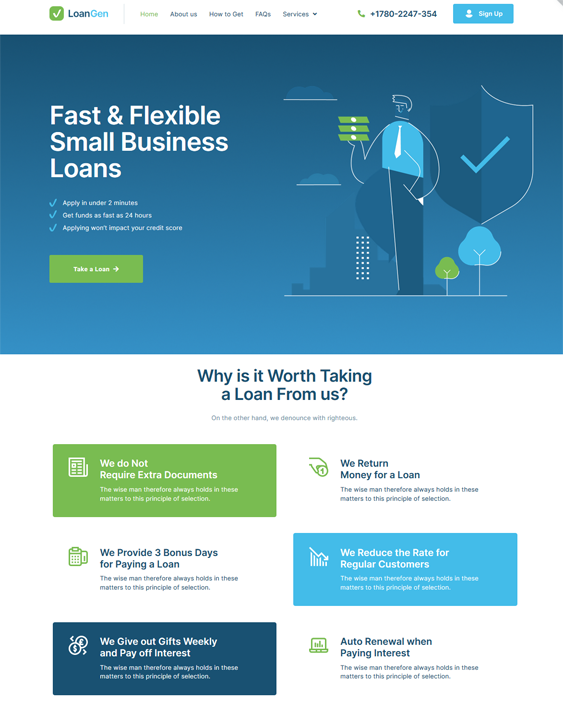 WordPress Themes For Loan And Mortgage Companies feature