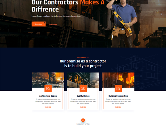 WordPress Themes For Building Contractors And Construction Companies feature