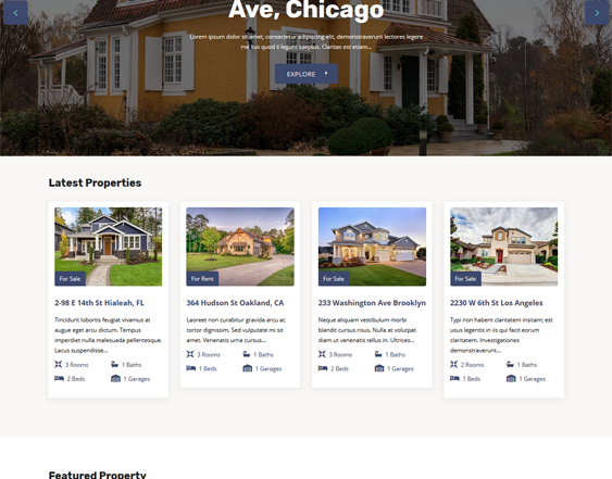 Real Estate WordPress Themes feature