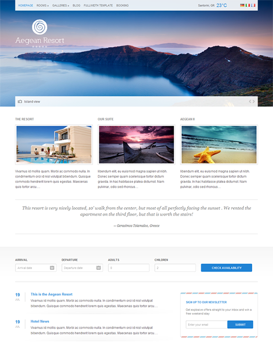 Hotel And Vacation Rental WordPress Themes